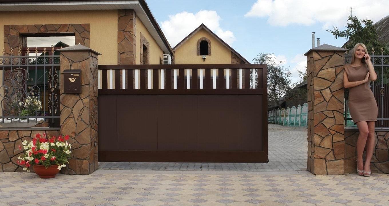 Откатные ворота в Волгограде - Алютех